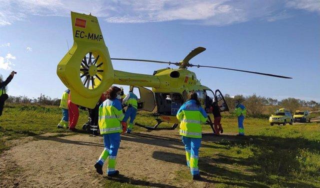 Helicóptero sanitario de Emergencias 112.