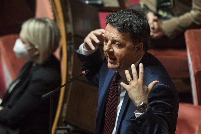 01 April 2020, Italy, Rome: Former Italian Prime Minister Matteo Renzi speaks during a session of the Italian Senate. Photo: Roberto Monaldo/LaPresse via ZUMA Press/dpa