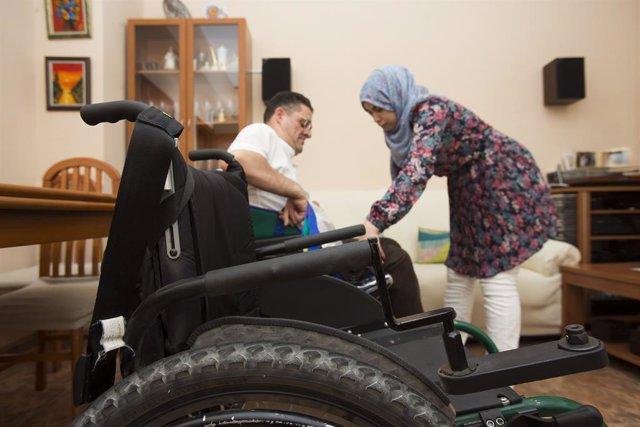 Servei a una persona amb discapacitat.