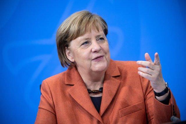 Angela Merkel comparece en rueda de prensa en Berlín