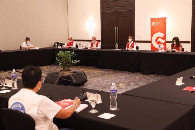 La reina Letizia se reúne con ONG españolas en Honduras a 15 de diciembre de 2020.