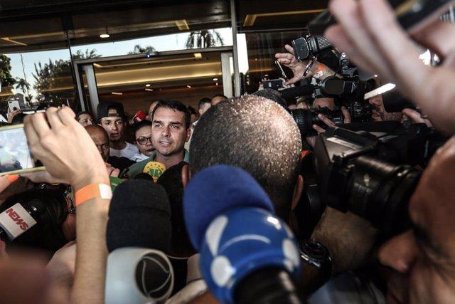 El senador por Río de Janeiro, Flavio Bolsonaro, uno de los hijos del presidente de Brasil, Jair Bolsonaro.