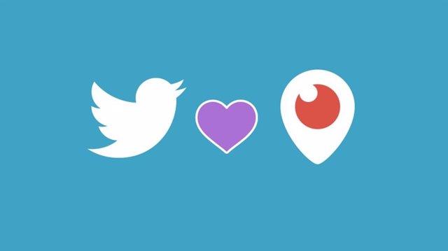 Logos de Twitter y Periscope