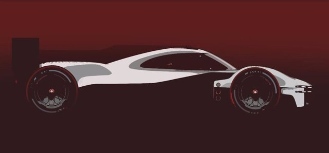 Diseño del prototipo de Porsche con el que la firma alemana regresará, a partir de 2023, al Mundial de Resistencia y a las 24 Horas de Le Mans