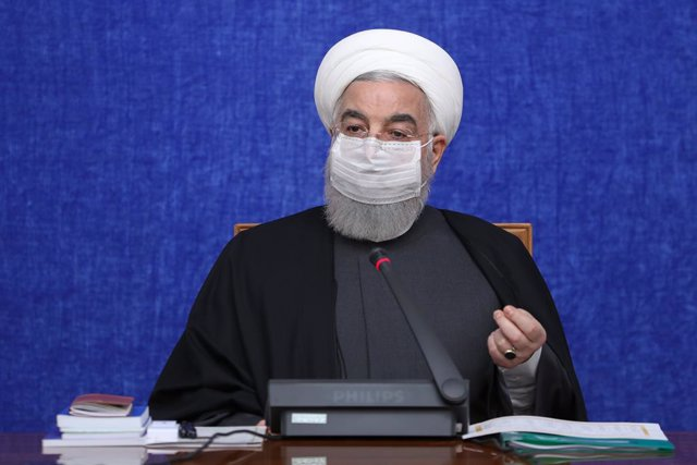 HANDOUT - 15 December 2020, Iran, Tehran: Iranian President Hassan Rouhani speaks during a meeting of the cabinet's Economic Coordination Board. Photo: -/Iranian Presidency/dpa - ATTENTION: editorial use only and only if the credit mentioned above is refe