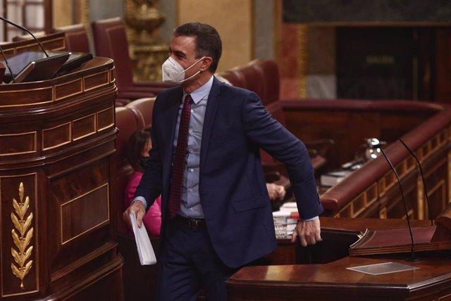 Pedro Sánchez compareix al Congrés dels Diputats.