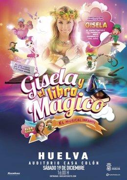 Cartel del musical infantil 'Gisela y el libro mágico'.