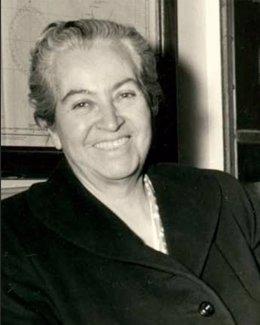 La escritora chilena Gabriela Mistral
