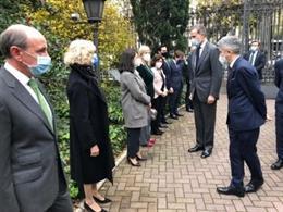 El Rey Felipe acompañado por el ministro del Interior, Fernando Grande-Marlaska, en los Premios Fundación Víctimas del Terrorismo