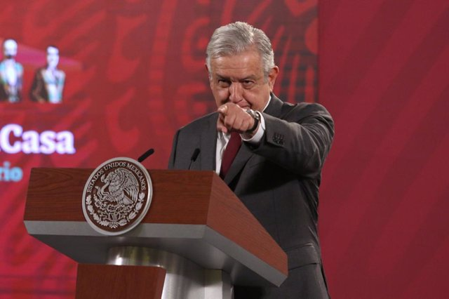 11 December 2020, Mexico, Mexico City: Mexican President Andres Manuel Lopez Obrador speaks during his daily press conference at the National Palace. Photo: -/El Universal via ZUMA Wire/dpa
