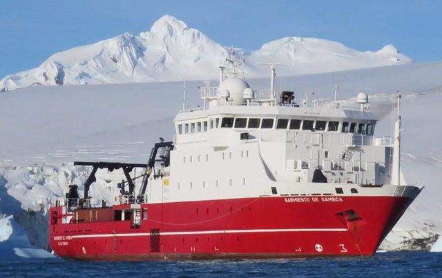 El buque oceanográfico Sarmiento de Gamboa