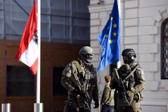 Policía en Viena, Austria