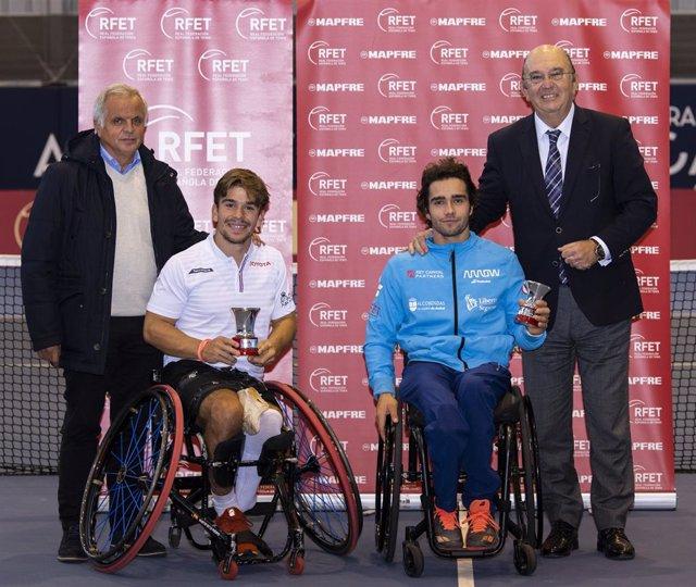 Martín de la Puente, campeón de España de tenis en silla de ruedas