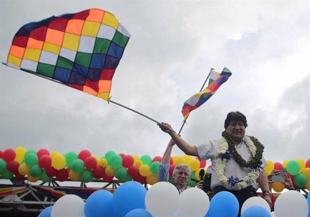 El expresidente de Bolivia Evo Morales y el que era su vicepresidente Álvaro García Linera.