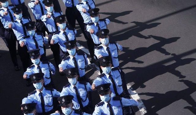 Agentes de Policía de China.