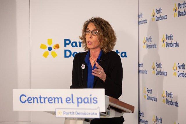 Trobada Digital d'Europa Press amb la candidata del PDeCAT a la presidència de la Generalitat, Àngels Chacón, el 17 de desembre del 2020.
