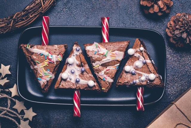 Semifrío de piña y chocolate para Navidad