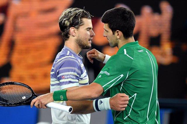 Dominic Thiem y Novak Djokovic
