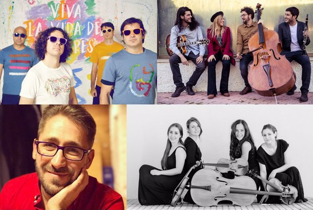 El grupo Happening, el cuarteto de músicos Serendipia, el artista Diego Gutiérrez y las integrantes del Cuarteto Dalí, serán los encargados de amenizar con su música la zona de restauración de Vallsur