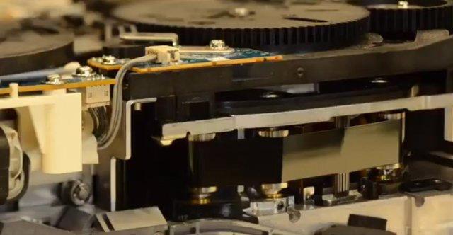 Prototipo de cinta magnética con ferrita de estroncio