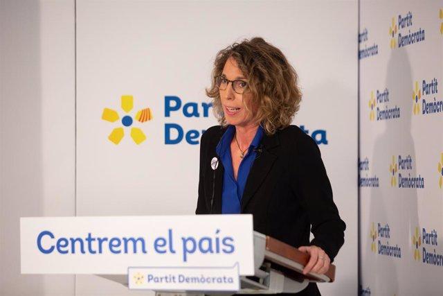 Trobada Digital d'Europa Press amb la candidata del PDeCAT a la presidència de la Generalitat, Àngels Chacón, el 17 de desembre de 2020.