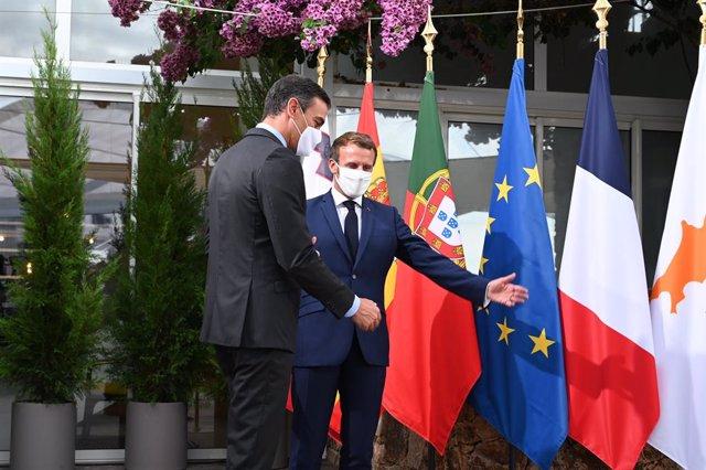 El president del Govern central, Pedro Sánchez, i el president francès, Emmanuel Macron.
