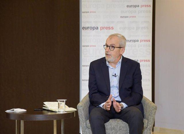 El médico y experto en tecnologías sanitarias José María Recalde durante el Encuentro informativo organizado por Europa Press 'Tabaco, tecnología y ciencia: ¿su transformación definitiva?', patrocinado por Philip Morris
