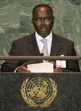 El expresidente de República Centroafricana François Bozizé interviene ante la ONU