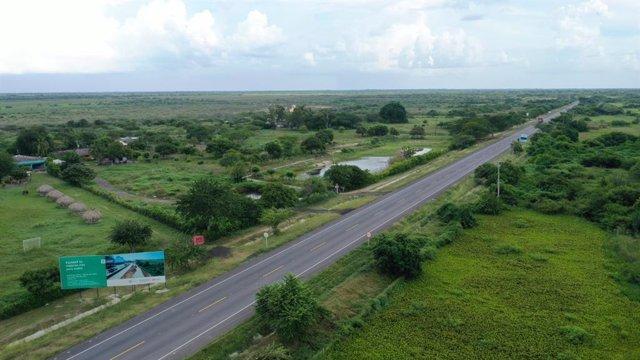Una de las autopistas que Sacyr construye en Colombia