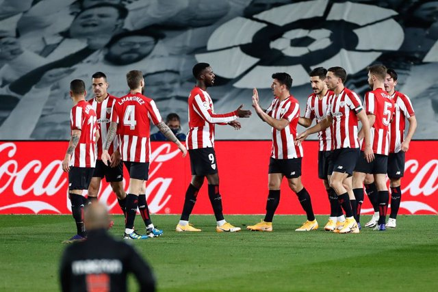 Ander Capa of Athletic Club celebrates a goal during the spanish league, La Liga, football match played between Real Madrid and Athletic Club de Bilbao at Alfredo di Stefano stadium on december 15, 2020, in Valdebebas, Madrid, Spain