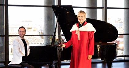 La soprano Ainhoa Arteta graba una versión del villancico 'Campana sobre campana' en apoyo de Cáritas