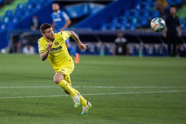 Alberto Moreno, en un partido con el Villarreal