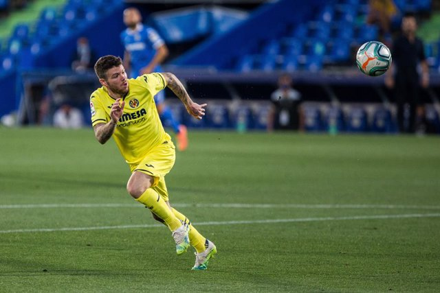 Alberto Moreno of Villarreal during the spanish league, LaLiga, football match played between Getafe Club Futbol and Villarreal Club Futbol at Alfonso Perez Coliseum on July 8, 2020 in Madrid, Spain.