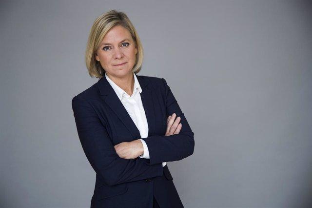 La ministra de Finanzas de Suecia, Magdalena Andersson.