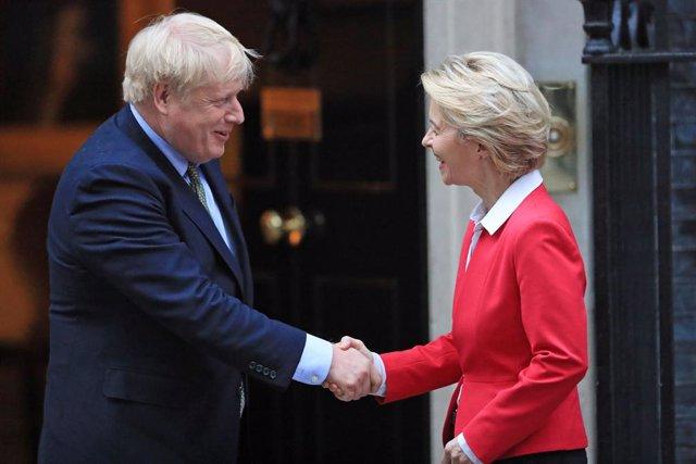El primer ministro de Reino Unido, Boris Johnson, y la presidenta de la Comisión Europea, Ursula von der Leyen