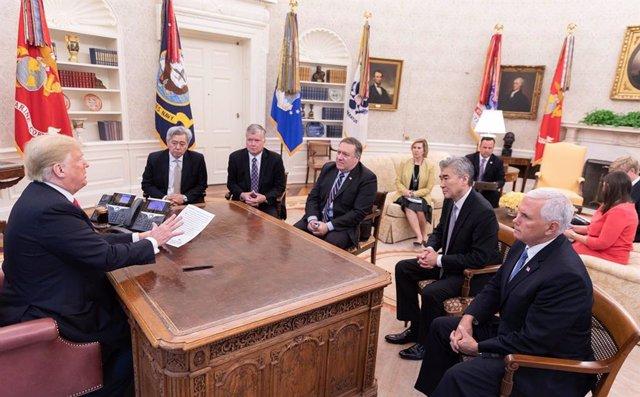 El presidente de EEUU, Donald Trump, en el Despacho Oval
