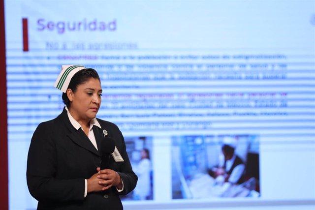 La jefa de la División de Programas de Enfermería del Instituto Mexicano del Seguro Social (IMSS), Fabiana Zepeda Arias.