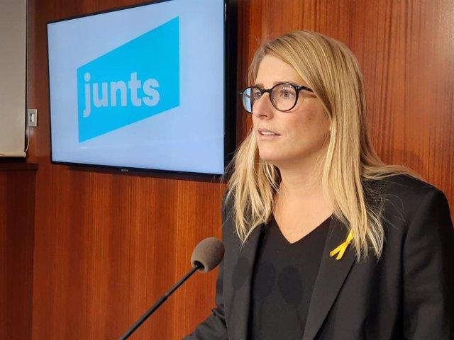 La líder de JxCat a Barcelona, Elsa Artadi, en una imatge d'arxiu.