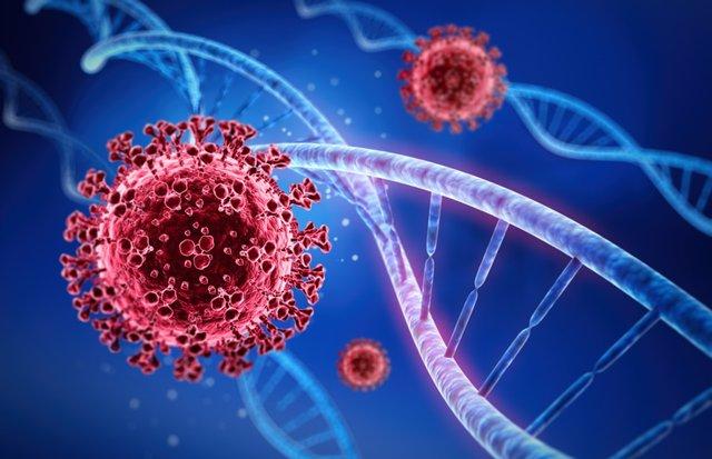 Coronavirus y genes. ADN, Covid.