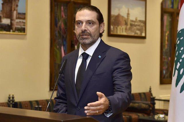 El ex primer ministro de Líbano Saad Hariri