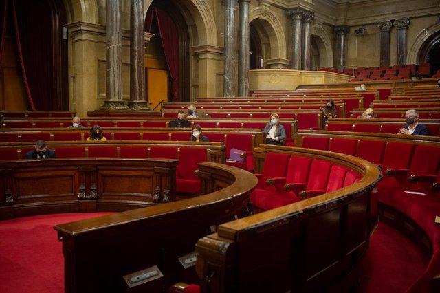 Sessió plenària al Parlament. Barcelona, Catalunya (Espanya), 15 de desembre del 2020.