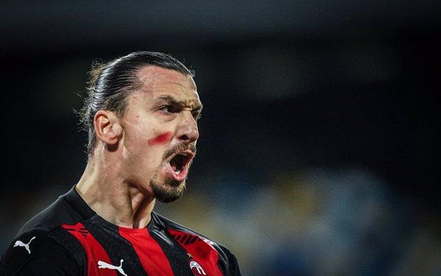 Zlatan Ibrahimovic en un partido del Milan