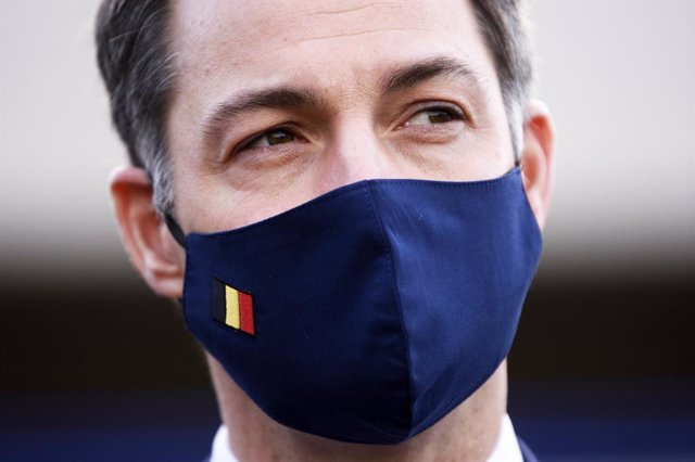 24 November 2020, Belgium, Brussels: Belgian Prime Minister Alexander De Croo is pictured during a working visit to Brussels-Zaventem airport . Photo: Pool Christophe Licoppe/BELGA/dpa
