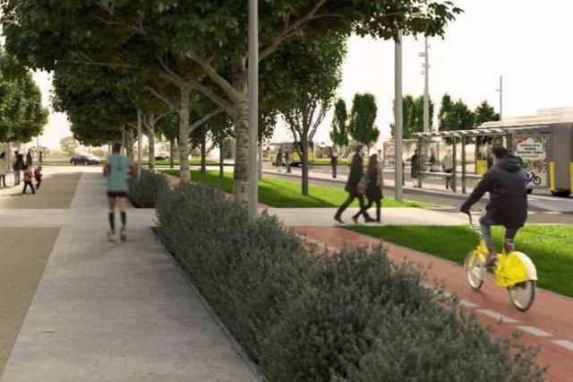 Proyecto de pacificación de la C-245 a su paso por Sant Boi de Llobregat (Barcelona)