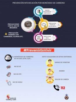 Campaña de prevención de intoxicaciones por monóxido de carbono.