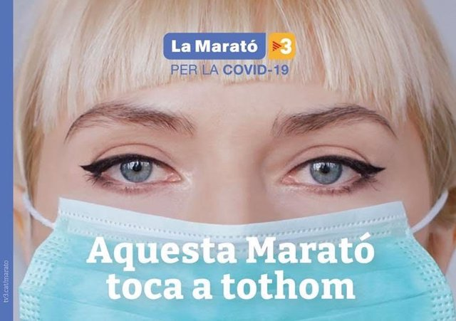 Cartell de La Marató 2020 dedicada al coronavirus