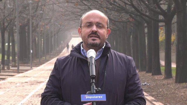 El president del PP català, Alejandro Fernández.