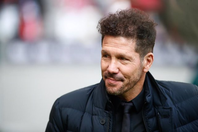Diego Pablo Simeone, head coach of Atletico de Madrid, in action during the Spanish League, La Liga, football match played between Atletico de Madrid and CD Leganes at Wanda Metropolitano Stadium on January 26, 2020 in Madrid, Spain.