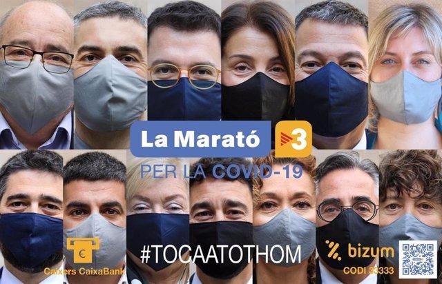 Els 13 consellers de la Generalitat participen en la campanya de promoció de La Marató.