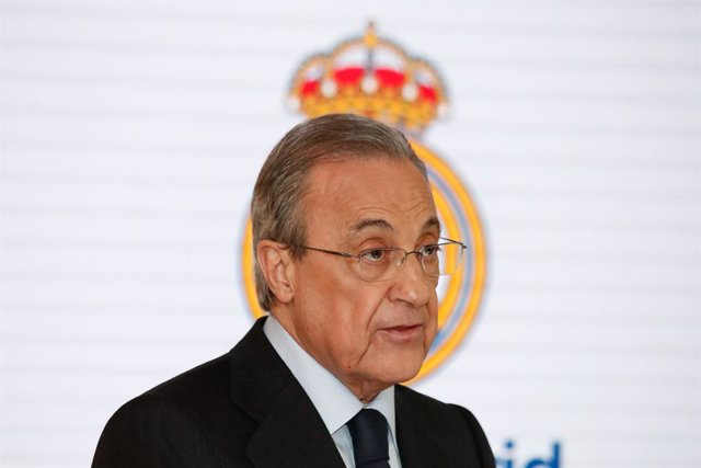 "Florentino Perez, President of Real Madrid, attends during the presentation of the ""Corazon Classic Match 2020"" between Real Madrid Leyends and Porto FC Leyends at Santiago Bernabéu Stadium on December 12, 2019."